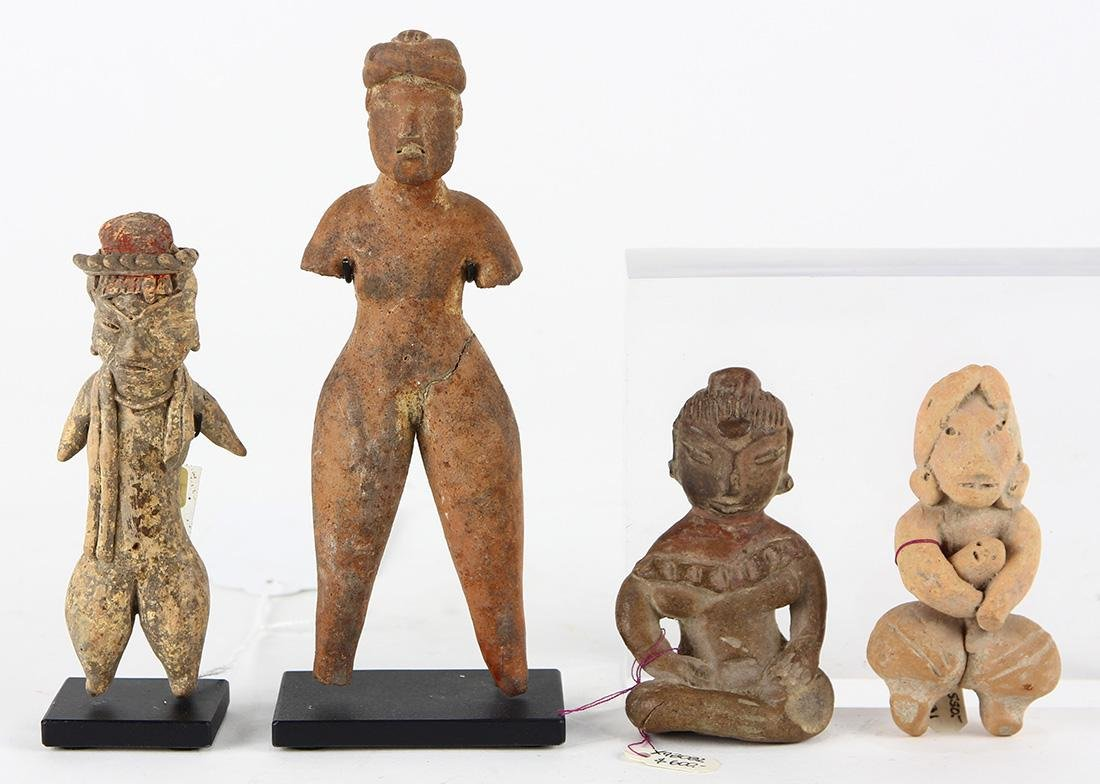 (lot of 4) Pre-Columbian fertility figures