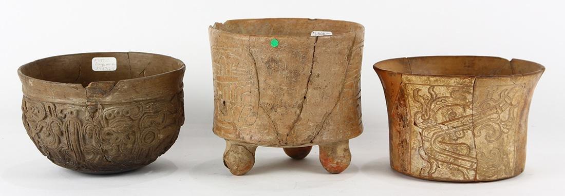 (lot of 3) Pre-Columbian Mayan