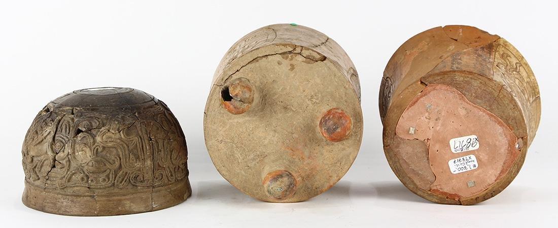 (lot of 3) Pre-Columbian Mayan - 2