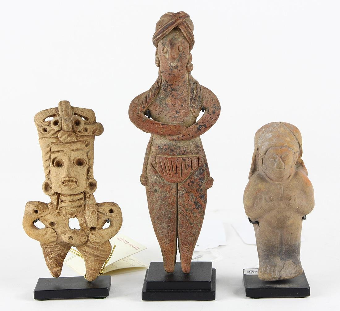 (lot of 3) Pre-Columbian figurines
