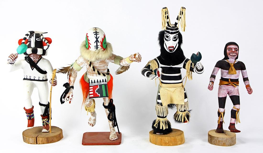 (lot of 4) Native American kachina dolls