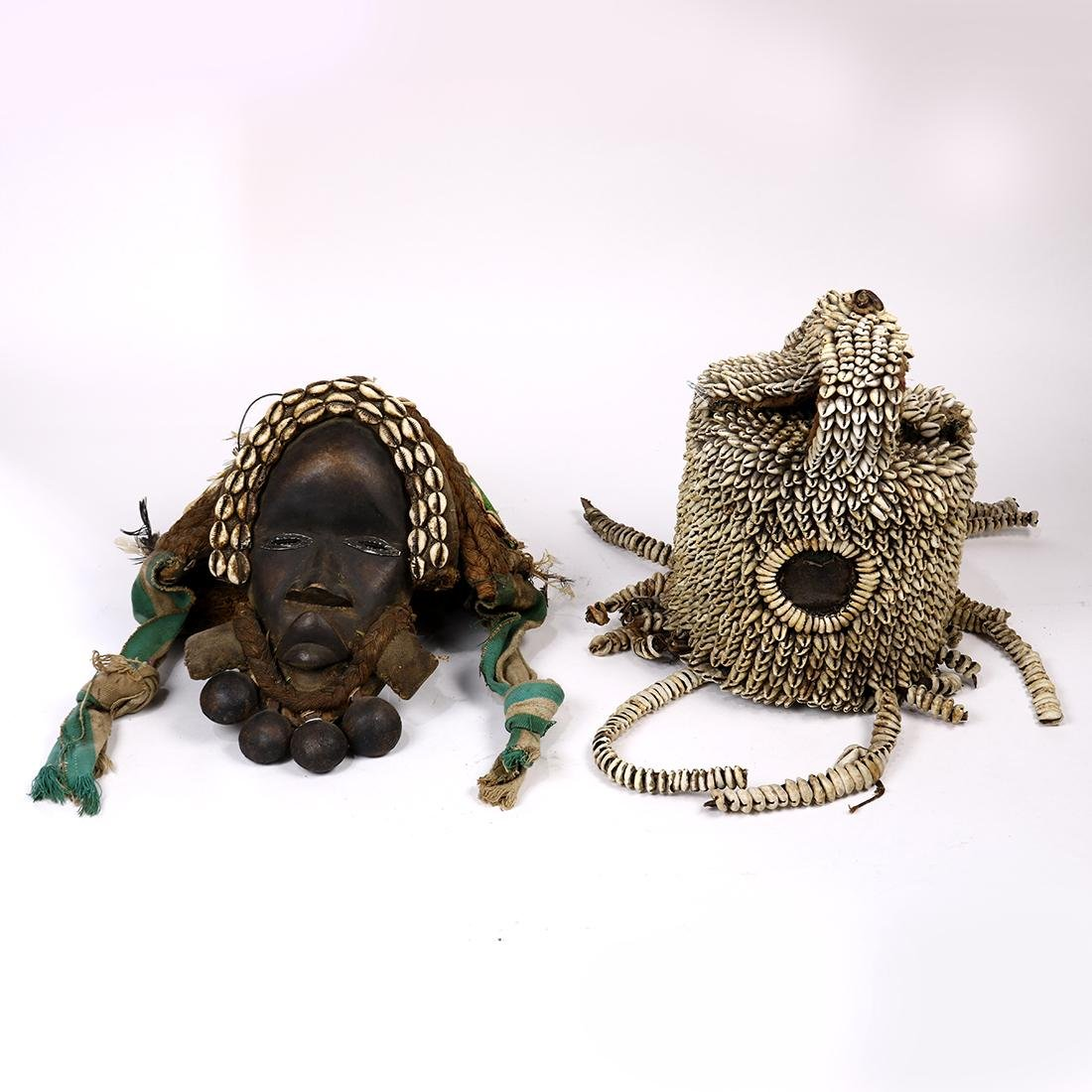 (lot of 2) African tribal headdress group