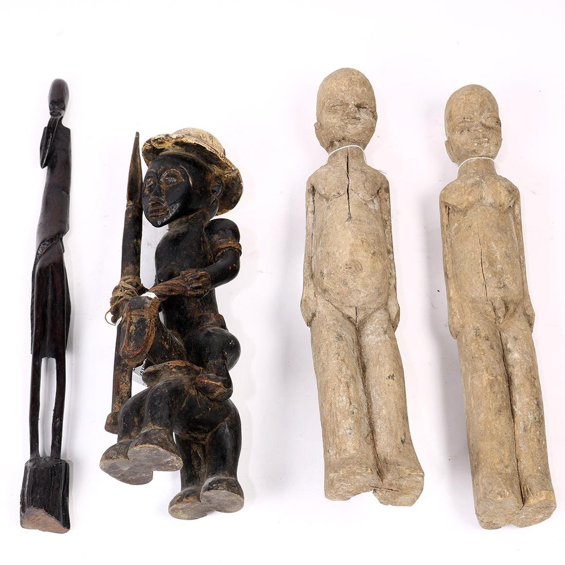 (lot of 4) African tribal style decorative figure