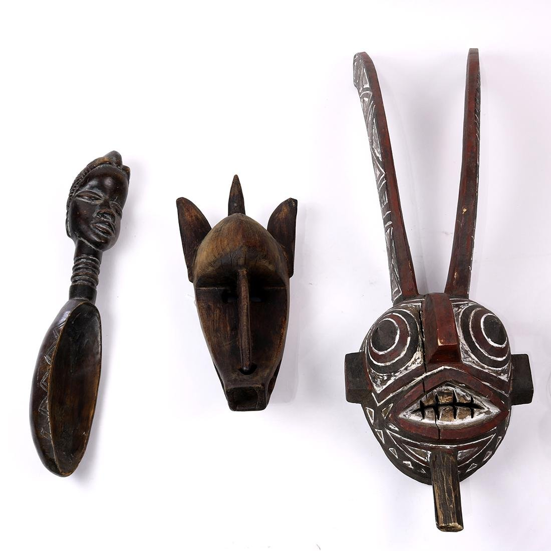 (lot of 3) Ethnographic tribal mask group,  consisting
