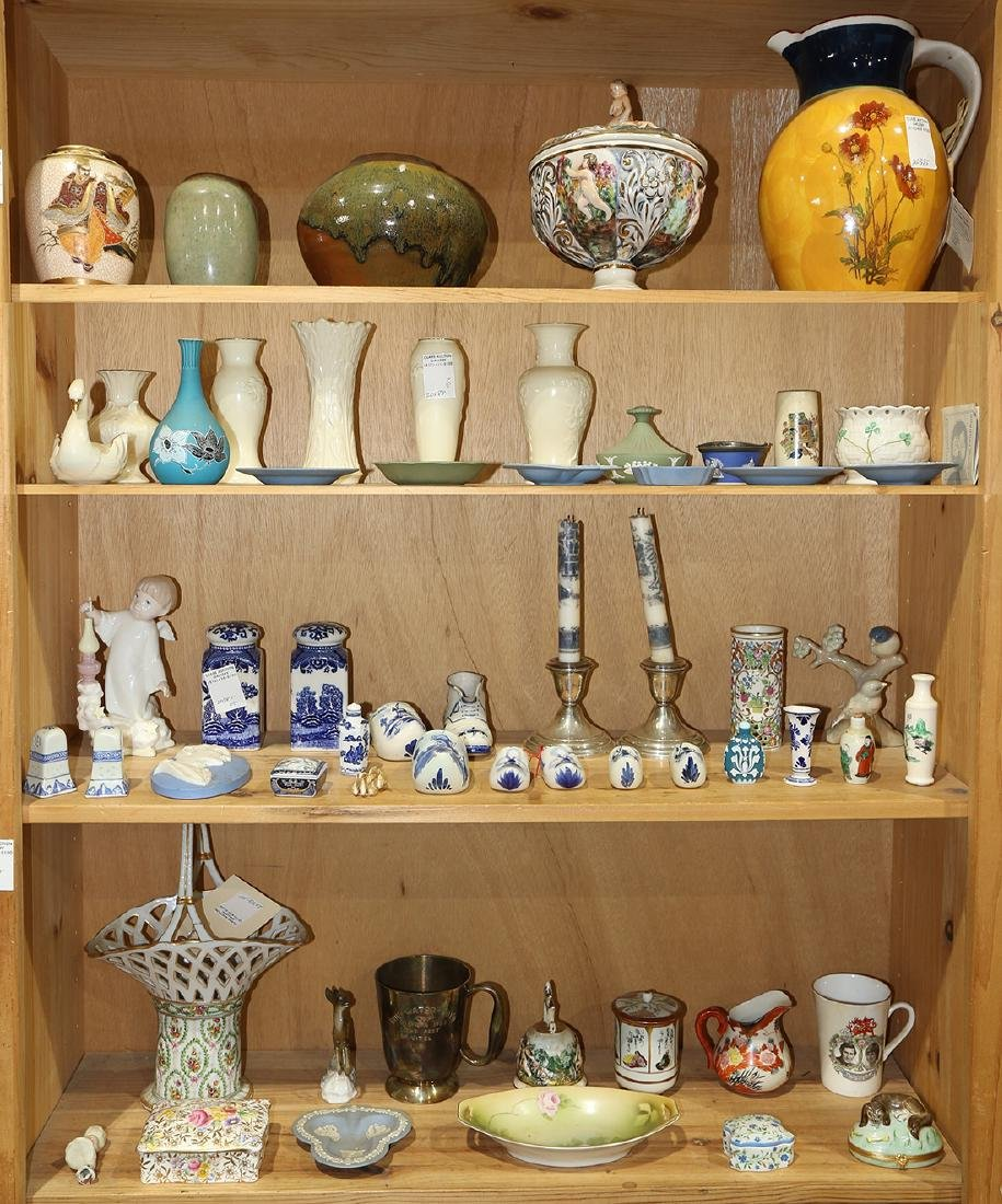Four shelves of miscellaneous ceramic and porcelain