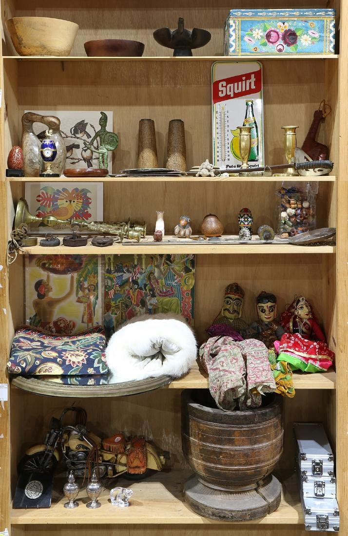 Five shelves of international and miscellaneous