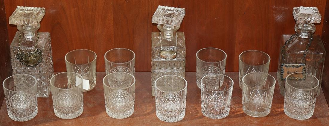 One shelf of cut glassware, consisting of (11) tumblers