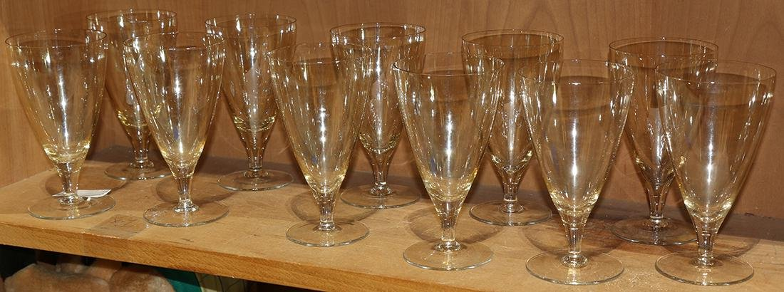 (lot of 11) Group of stemware, having a wide mouth and