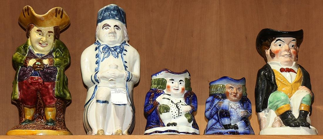(lot of 5) Character jug group