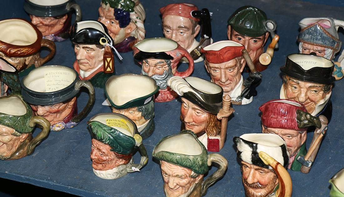 (lot of approx 50) of Royal Doulton character jugs,