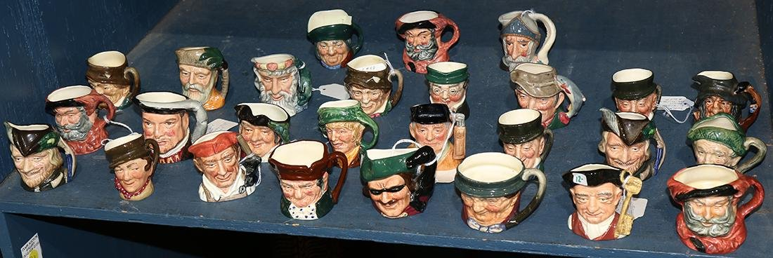 (lot of approx 60) small Royal Doulton character jugs,