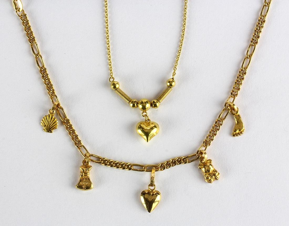 18k yellow gold jewelry suite