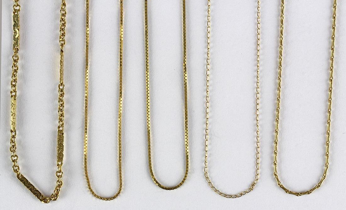 (Lot of 7) Yellow gold chains - 3