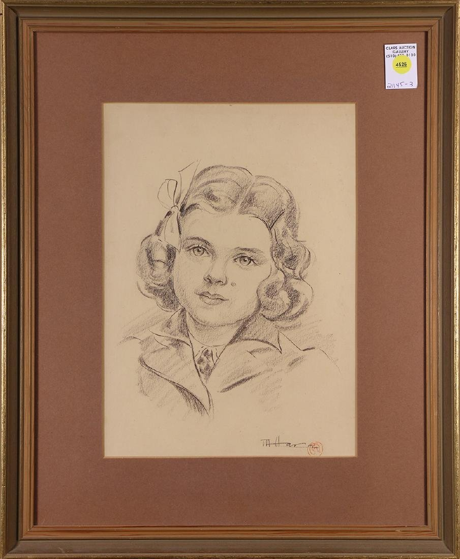 Drawing, Portrait of a Young Girl