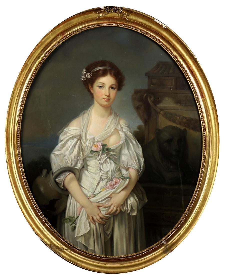 Painting, Circle of Jean-Baptiste Greuze