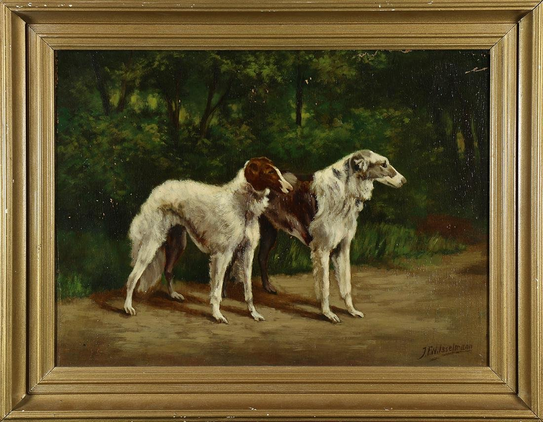 Painting, Two Wolfhounds
