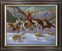Painting Robert Yellowhair