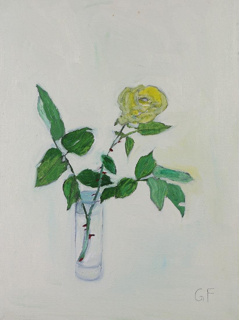 Painting, Yellow Rose in a Vase
