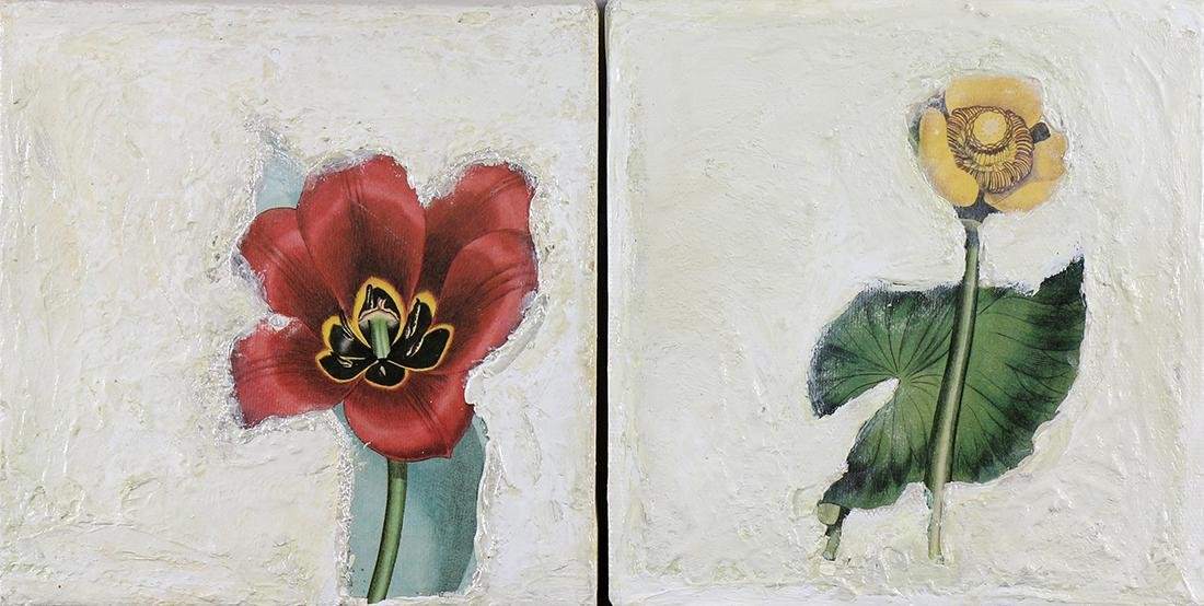 Pair of Floral Still Lifes