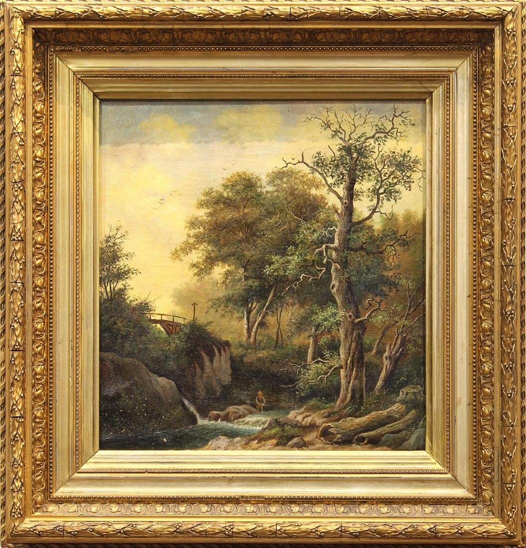 Painting, Figure by Stream