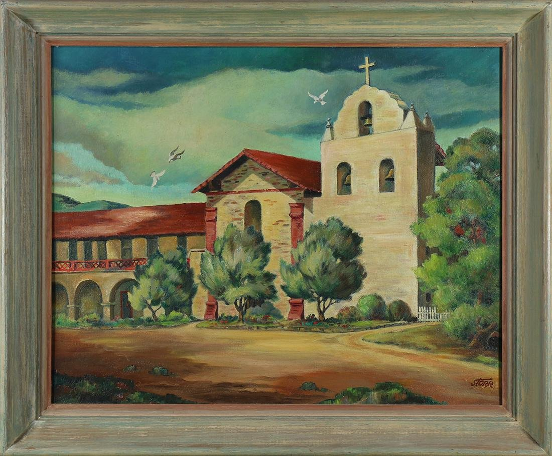 Painting, California Mission