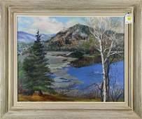 Painting Lake Landscape
