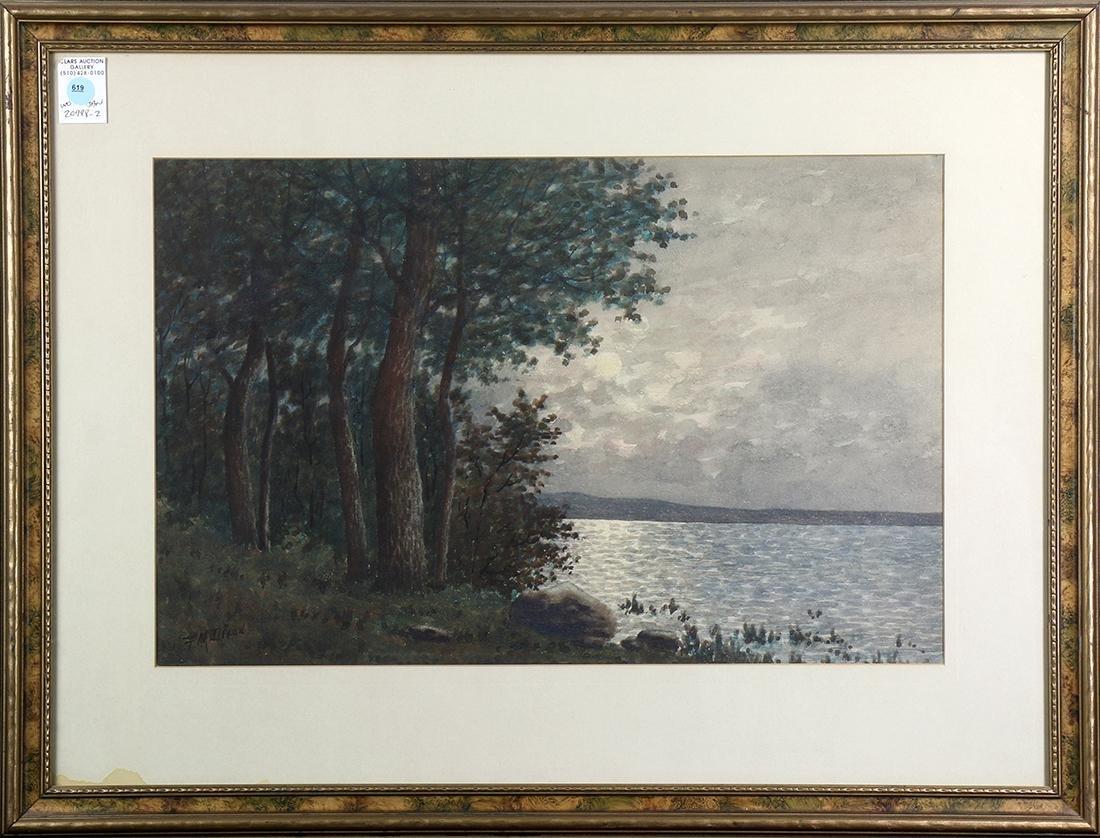 Watercolor, Moonlit Water