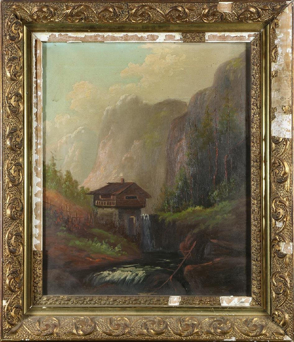Painting, Mountain Chalet