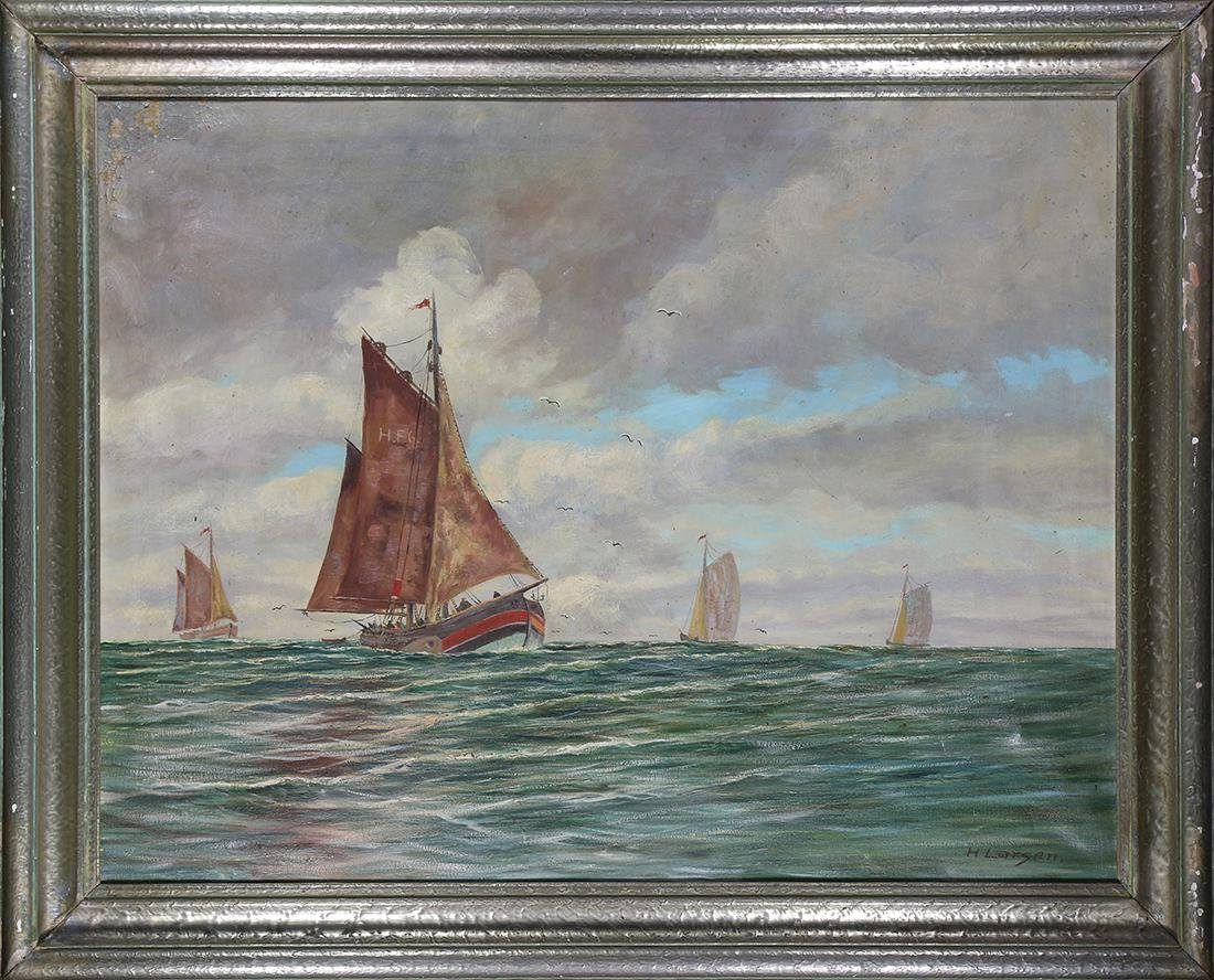 Painting, Ships at Sea