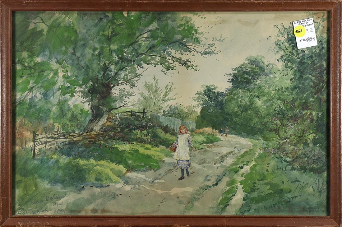 Watercolor, Near Halstead, Kent