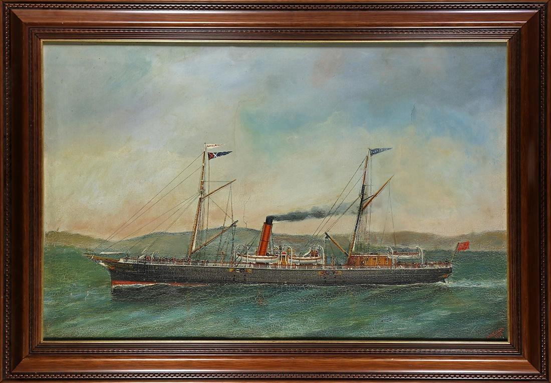 Painting, Ship Leaving Port, 1893