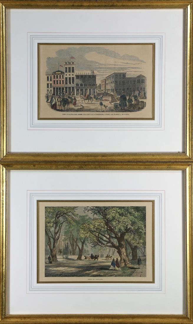Prints, Oaks of Oakland and View of Montgomery Street