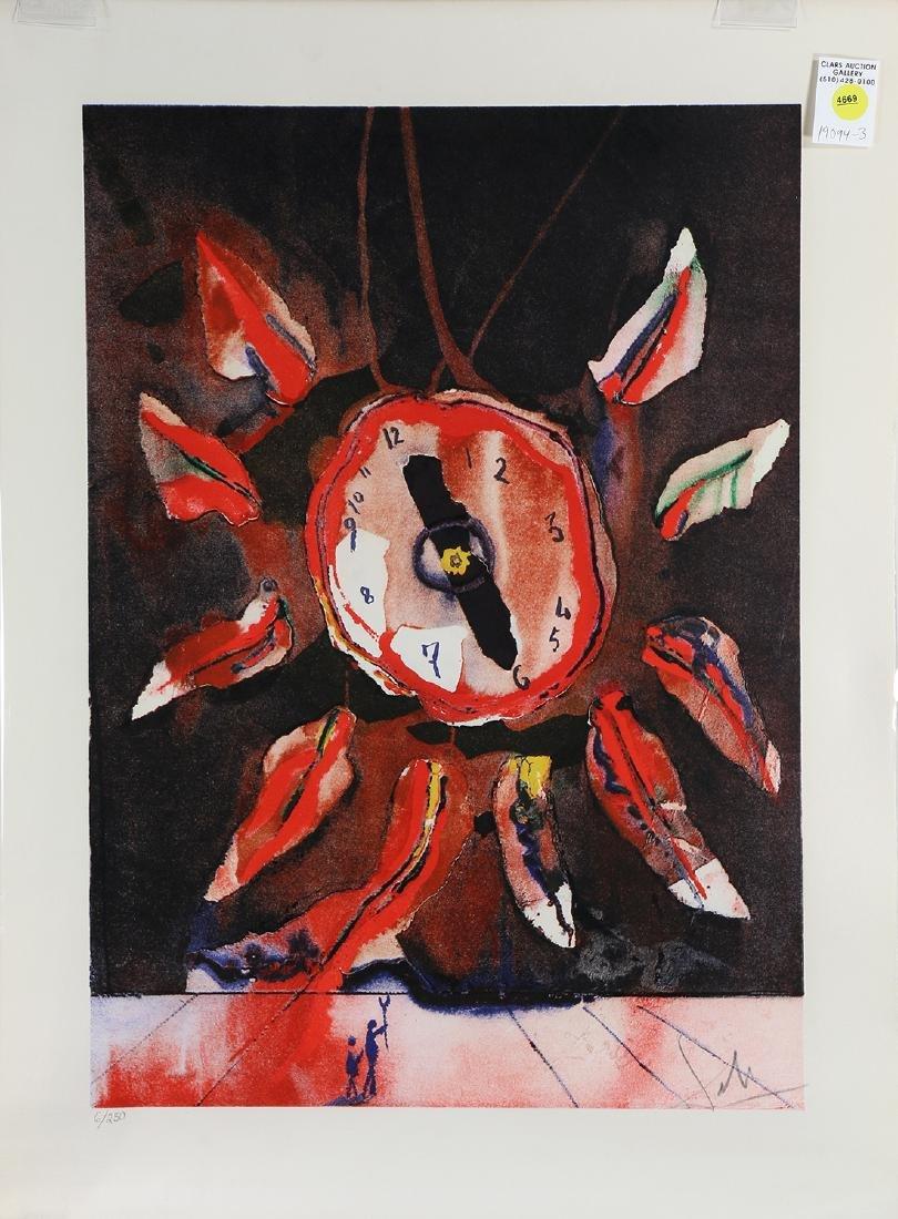Print, Salvador Dali, Montre-Fleur