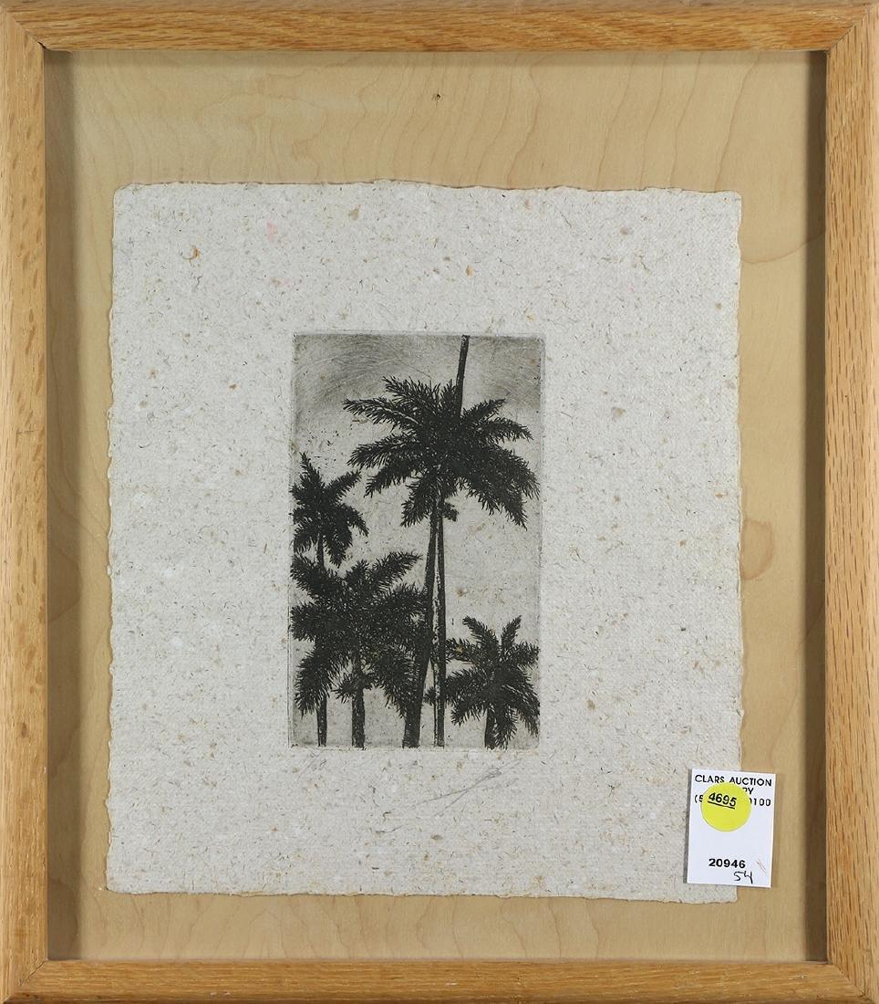 Print, Palm Trees