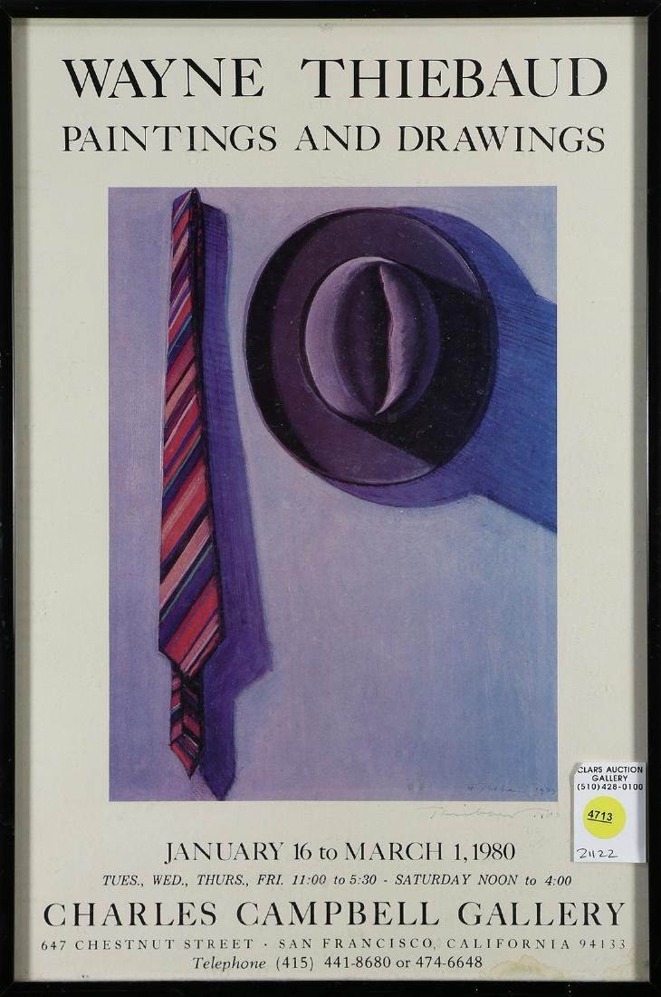 Exhibition Poster, Wayne Thiebaud Paintings and
