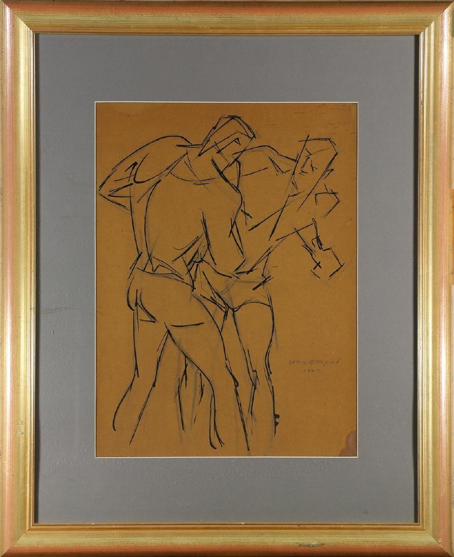 Work on paper, William Littlefield, Boxers