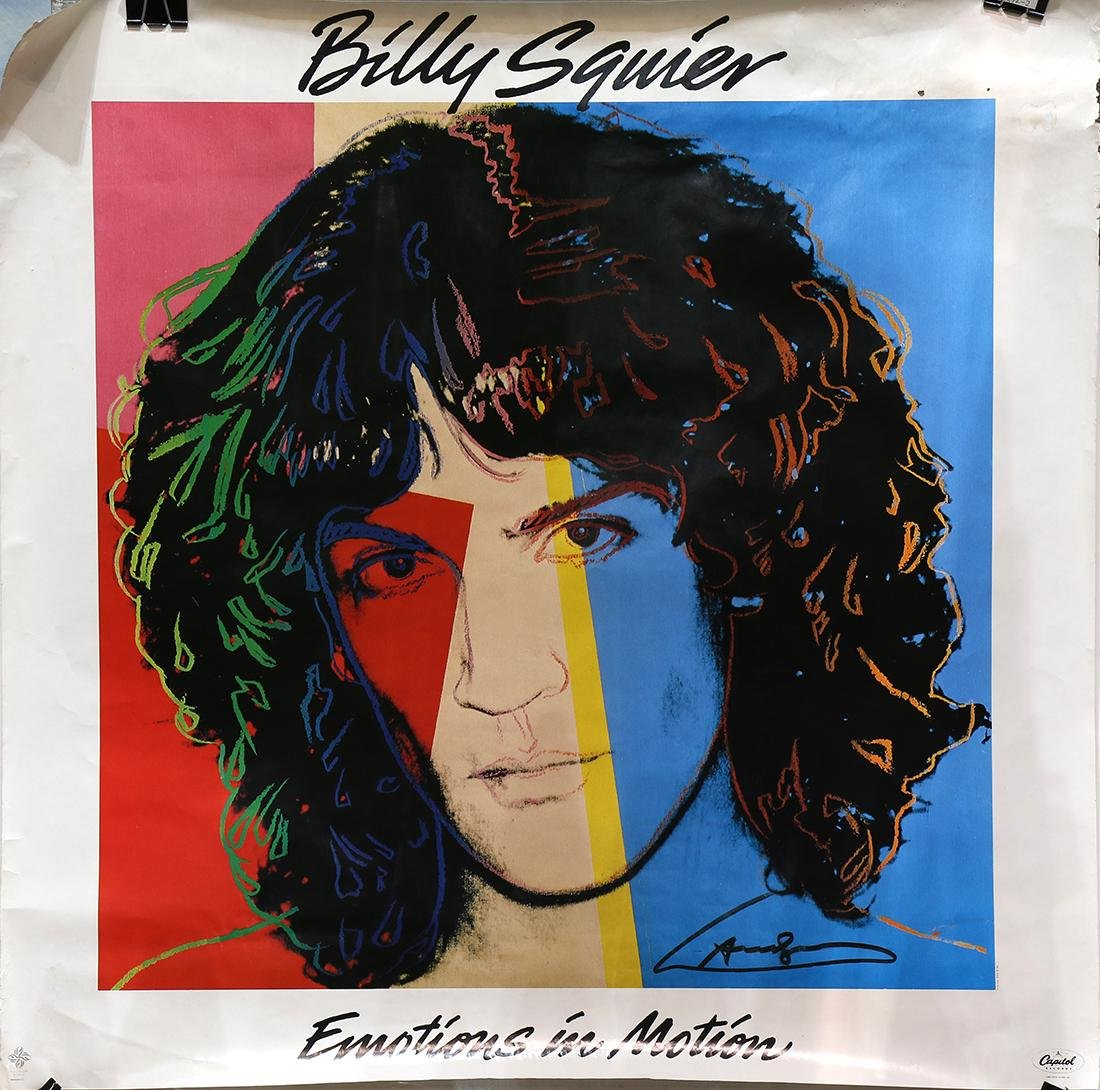 Album Poster, Andy Warhol, Billy Squier, Emotions in