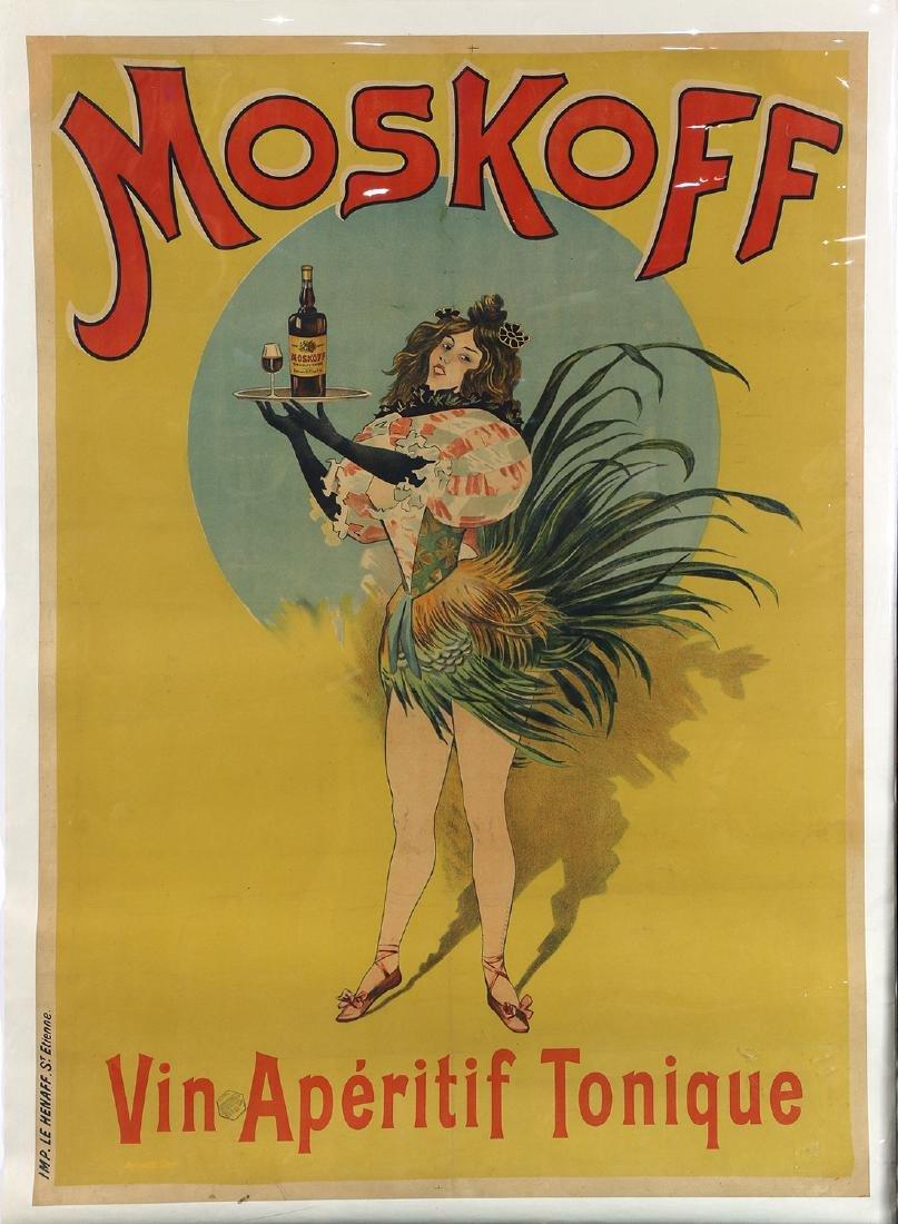Vintage Advertising Poster, Moskoff, Vin Aperitif