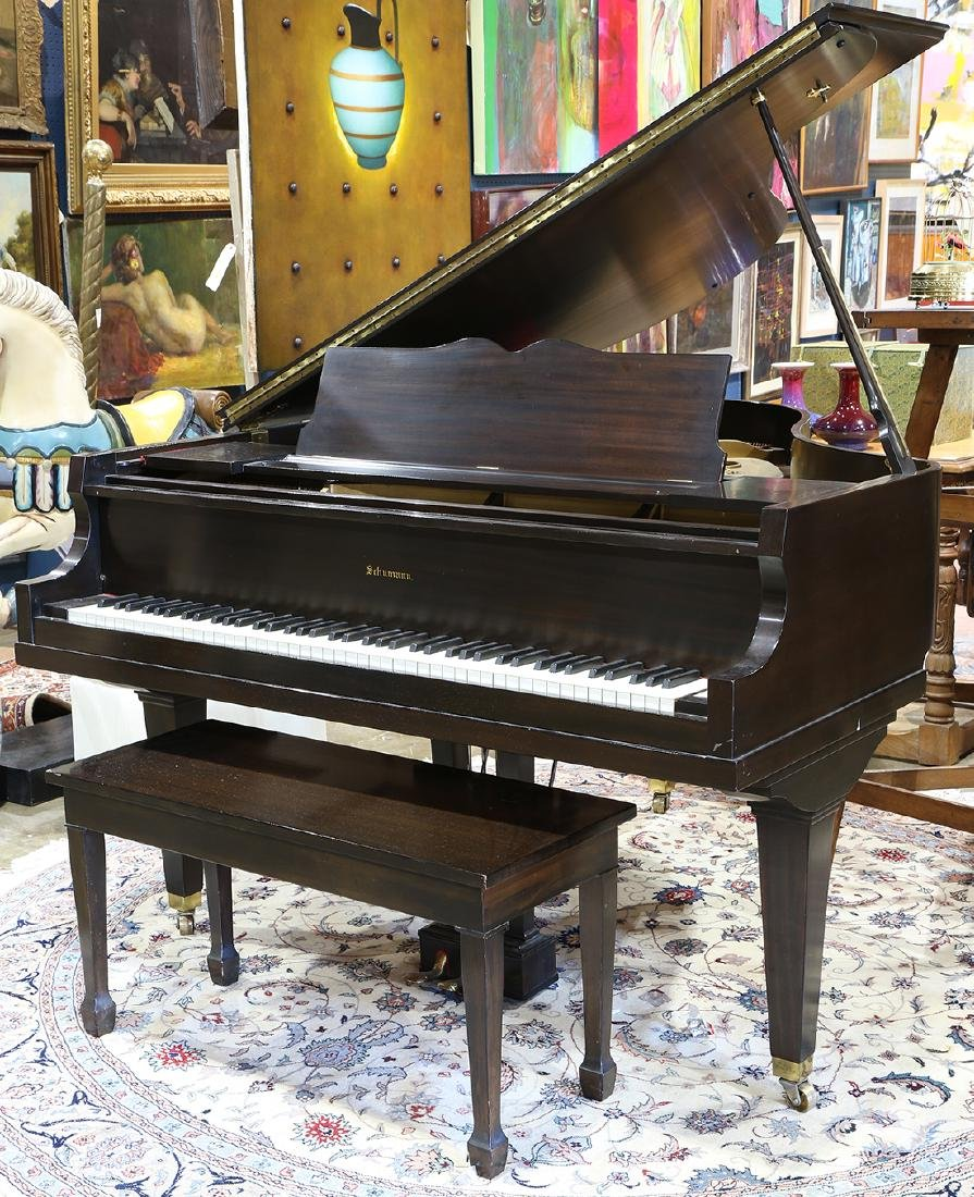 Schumann baby grand piano, serial number 51034,