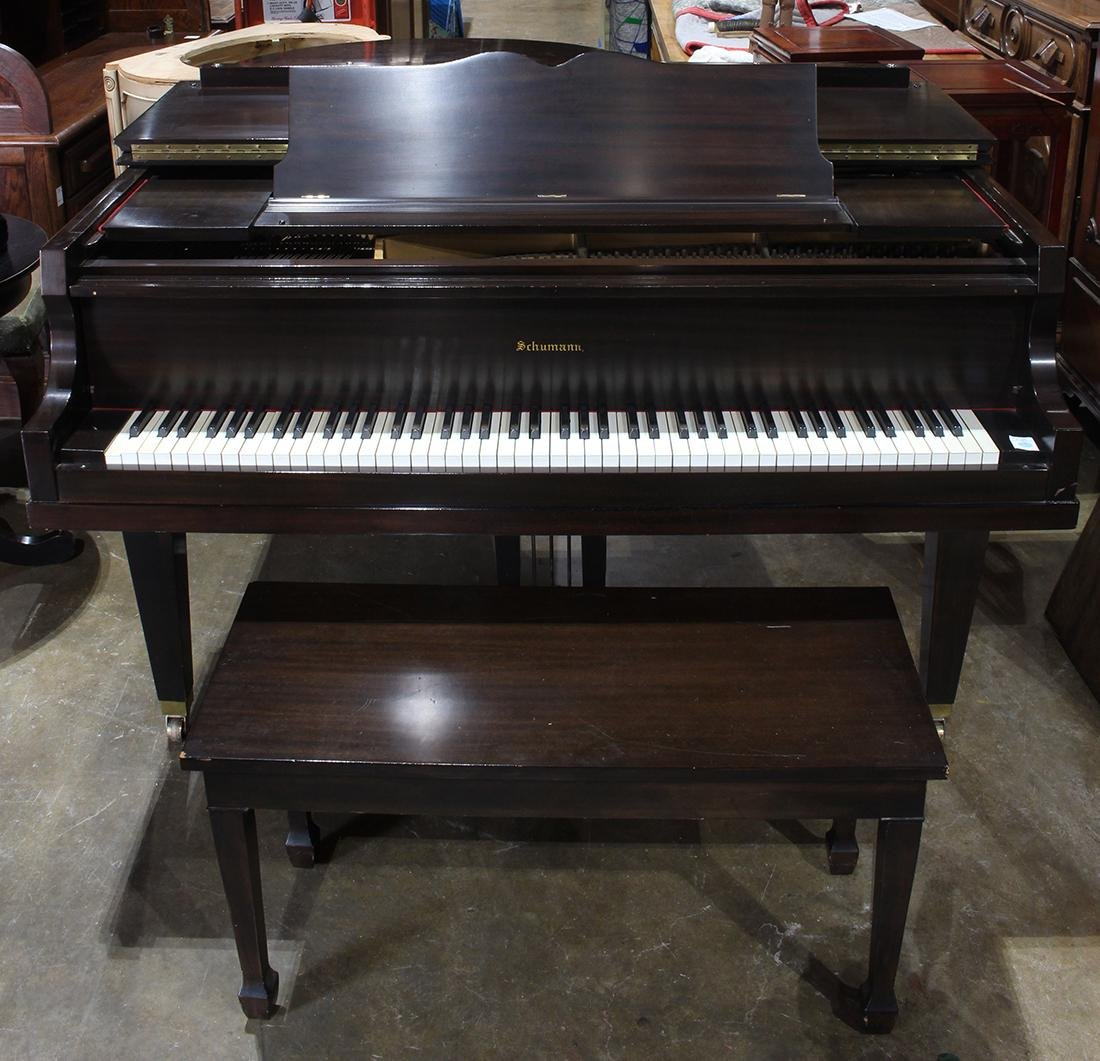 Schumann baby grand piano, serial number 51034, - 3