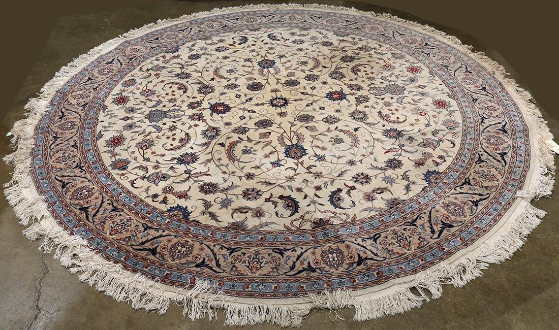 "Sino Tabriz carpet, 8'2""dia"