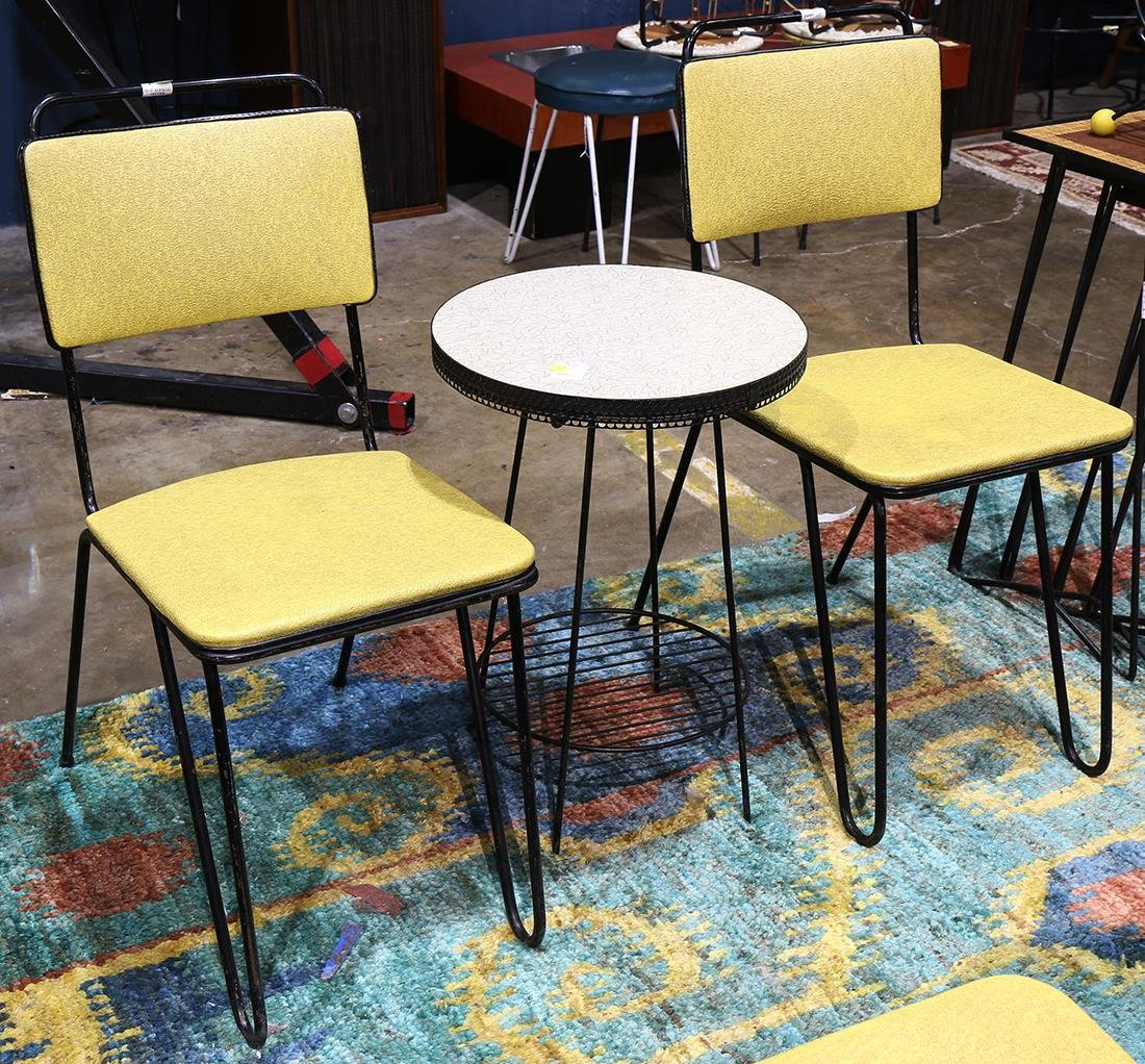 (lot of 7) Mid-Century furniture group, including metal - 3