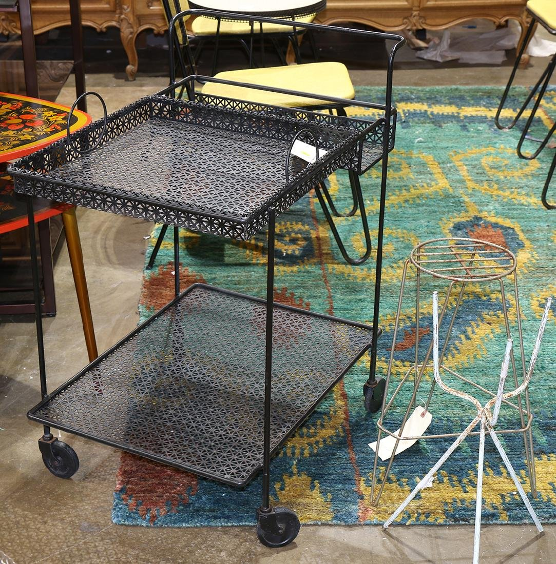 (lot of 3) Outdoor metal decorative group, consisiting - 2