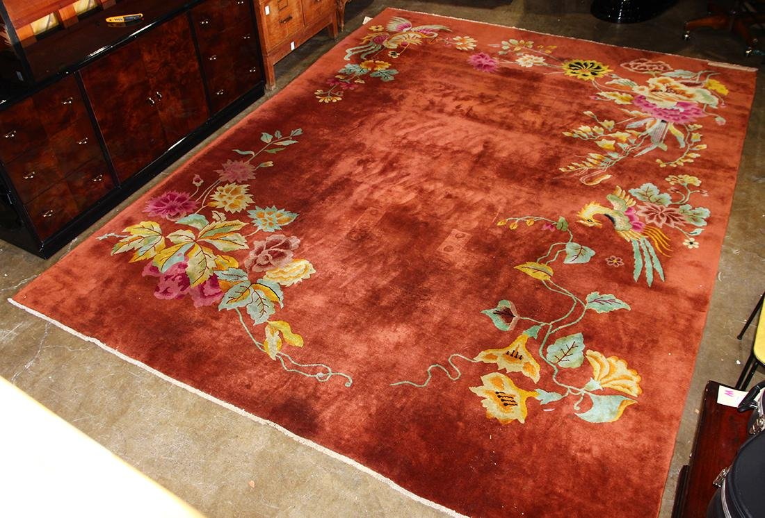 Chinese floral decorated carpet - 2