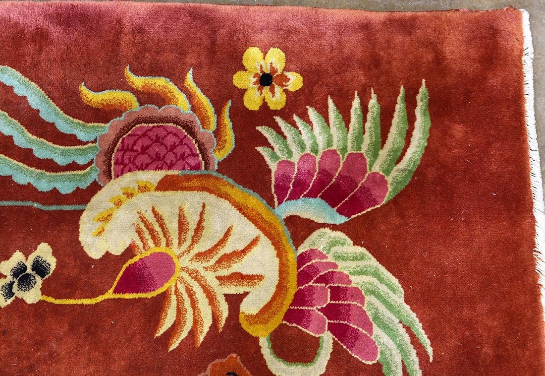 Chinese floral decorated carpet - 3