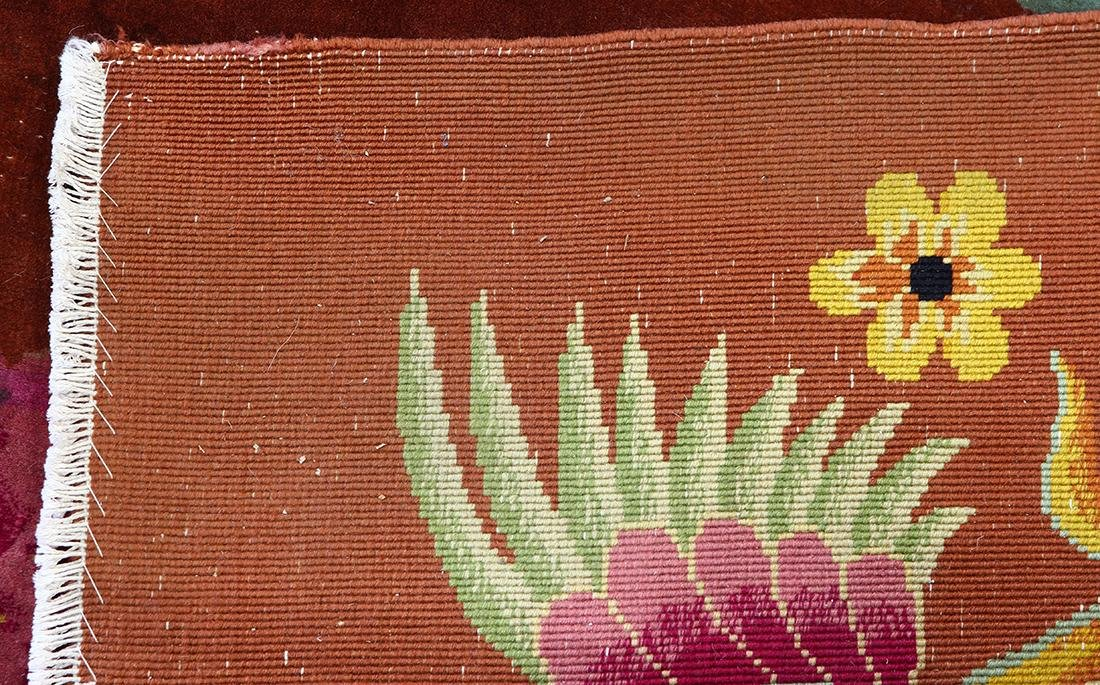 Chinese floral decorated carpet - 4