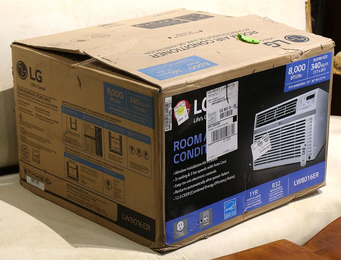 LG window air conditioner in box