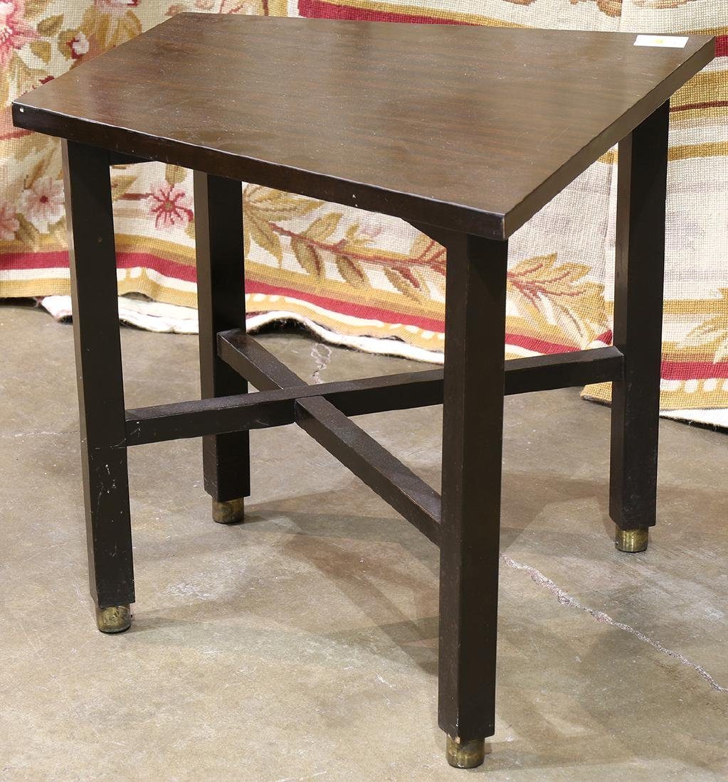 Modern side table having a trapezoidal top, the four