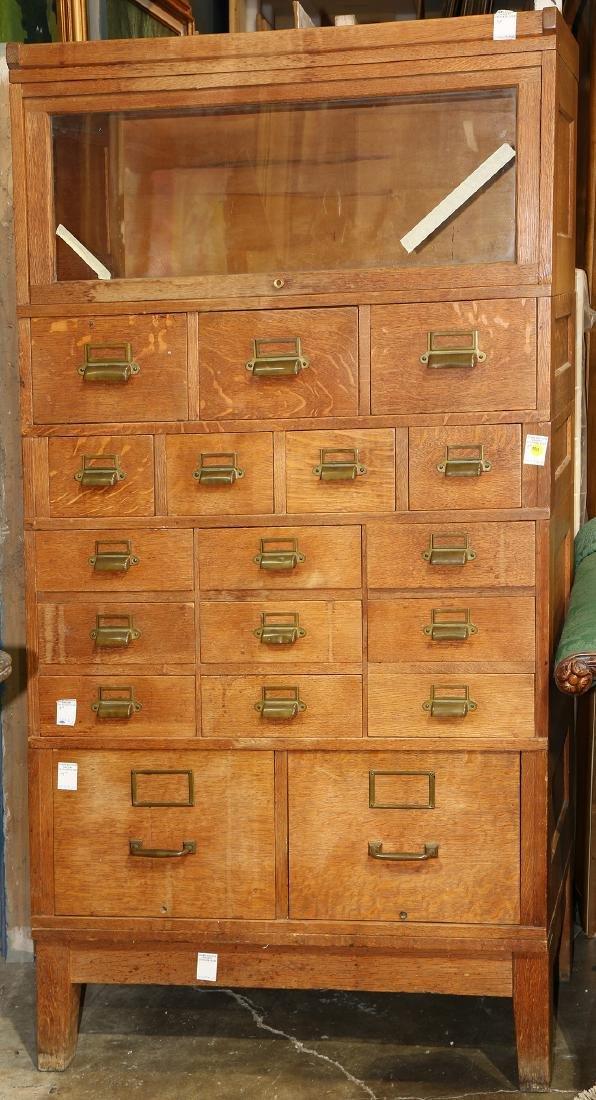 Oak library cabinet