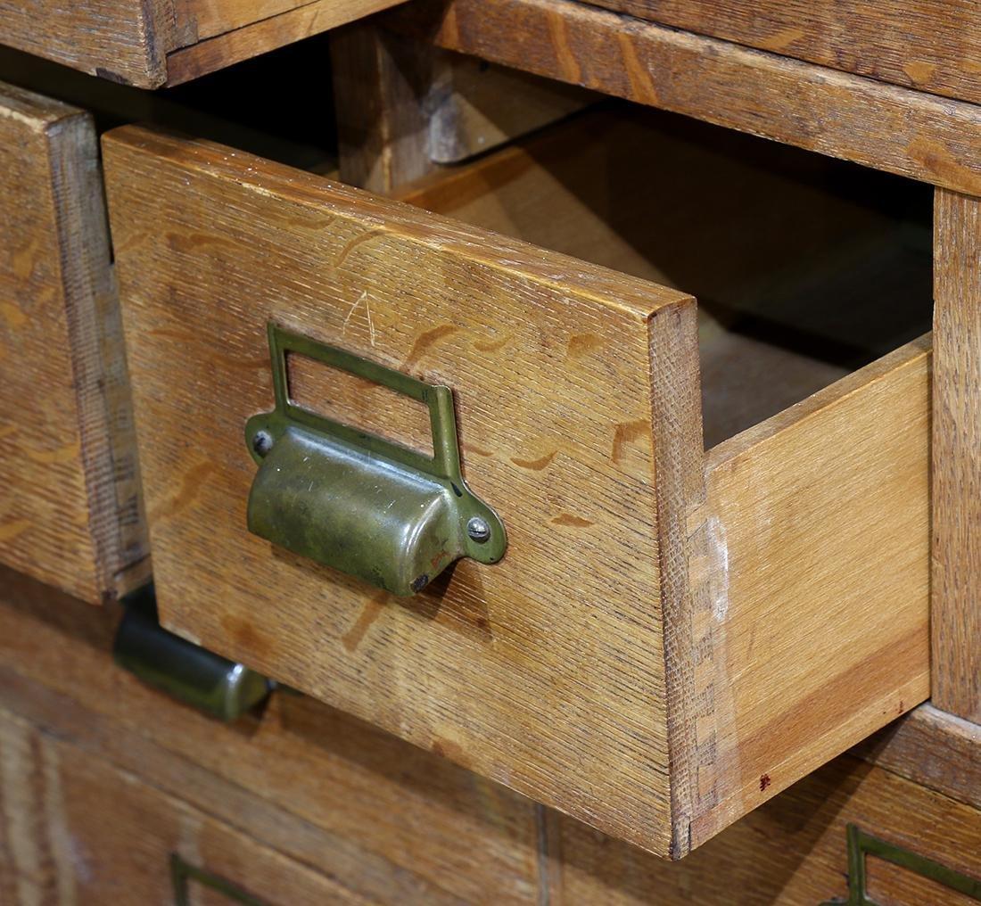 Oak library cabinet - 2